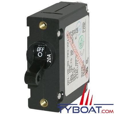 Blue Sea Systems - Disjoncteur thermique série a unipolaire 20 Ampères noir - BS7212
