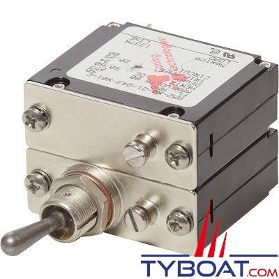 Blue Sea Systems - Disjoncteur thermique série  bipolaire 50 Ampères milspec - BS7317