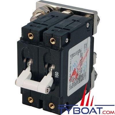 Blue Sea Systems - Disjoncteur thermique série c bipolaire 150 Ampères blanc - BS7267