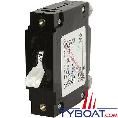 Blue Sea Systems - Disjoncteur thermique série c unipolaire 20 Ampères blanc - BS7353