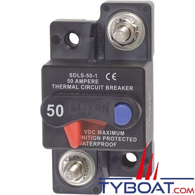 Blue Sea Systems - Disjoncteur thermique série klixon  50 Ampères - BS7173