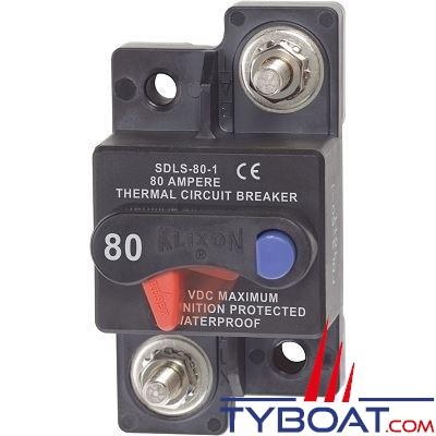 Blue Sea Systems - Disjoncteur thermique série klixon  80 Ampères - BS7176