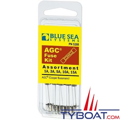 BLUE SEA SYSTEMS - Fusible kit agc 5 piece - BS5288