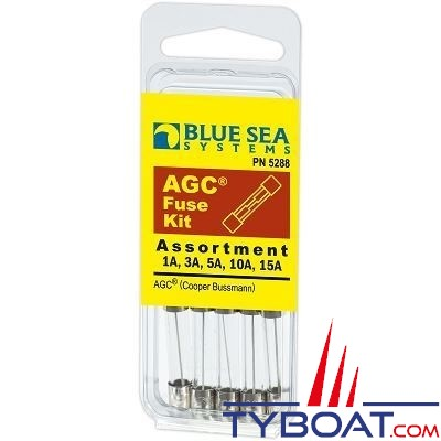 Blue Sea Systems - Fusible kit agc (x 5 pièces) - BS5288