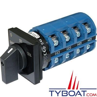 Blue Sea Systems - Interrupteur sélecteur 120+120/240 Volts a.c65 Ampèresoff+2 - BS9093