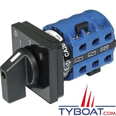 Blue Sea Systems - Interrupteur sélecteur 120 Volts a.c 30 Ampères off+3 - BS9010