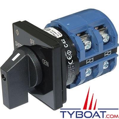 Blue Sea Systems - Interrupteur sélecteur 120 Volts a.c 65 Ampères off+2 - BS9011