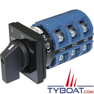 Blue Sea Systems - Interrupteur sélecteur 240 Volts a.c 65 Ampères off+2 - BS9019