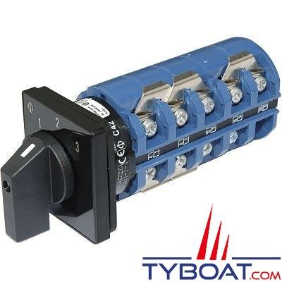 Blue Sea Systems - Interrupteur sélecteur 240 Volts a.c 65 Ampères off+3 - BS9077