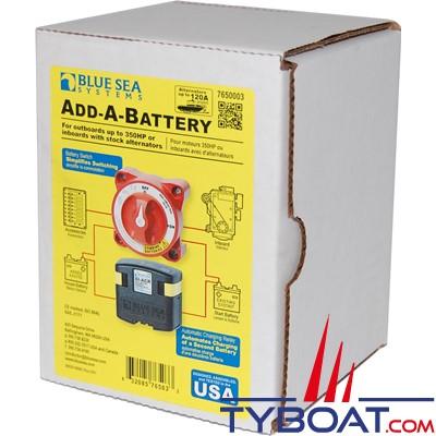 Blue Sea Systems - Kit add-a-battery relais de charge SI-ACR 12/24V - 120A avec coupe batterie - 7650003
