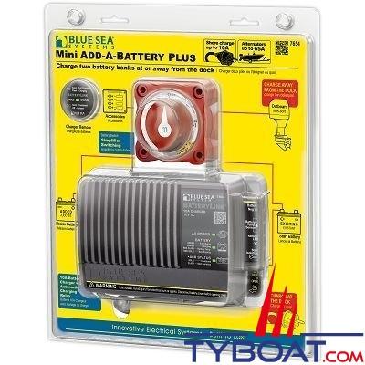 Blue Sea Systems - Kit Relais de charge batterie mini - 65 A - 7654