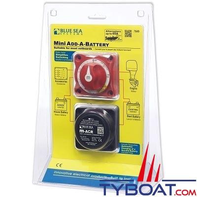 Blue Sea Systems - Kit Relais de charge batterie mini - 7649