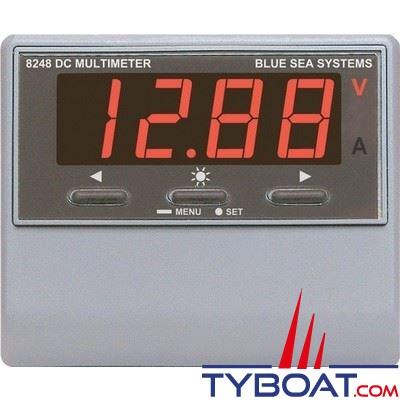 Blue Sea Systems - Multimètre digital dc avec alarme courant - 8248