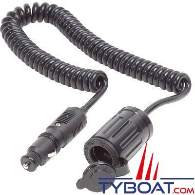 Blue Sea Systems - Prise allume-cigare avec câble d'extension - 12 Volts d.c