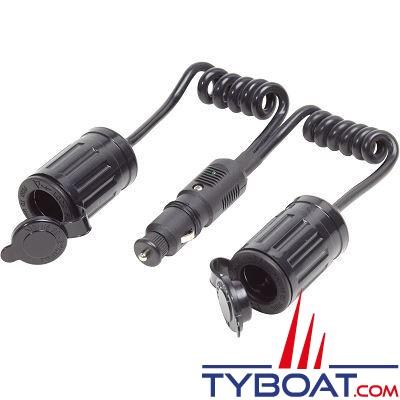 Blue Sea Systems - Prises allume-cigare avec 2 câbles d'extension - 12 Volts d.c