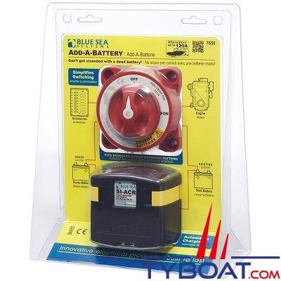 Blue Sea Systems - Kit Relais de charge batterie - 120 A - 7650