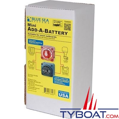 Blue Sea Systems - Relais de charge batterie mini en carton - BS7649003