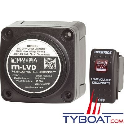 Blue Sea Systems - Relais de charge m 65a 12v lvd - BS7635
