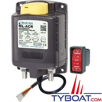 Blue Sea Systems - Relais de charge ML-ACR 12V - 500A + interrupteur