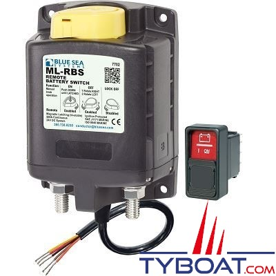 Blue Sea Systems - Relais de charge ml 500a 24v rbs  - commande manuelle - BS7702