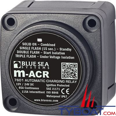 Blue Sea Systems - Relais de charge série m  65a 12/24v acr - BS7601