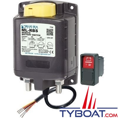 Blue Sea Systems - Relais ml 500a 12v rbs - commande manuelle - 7700