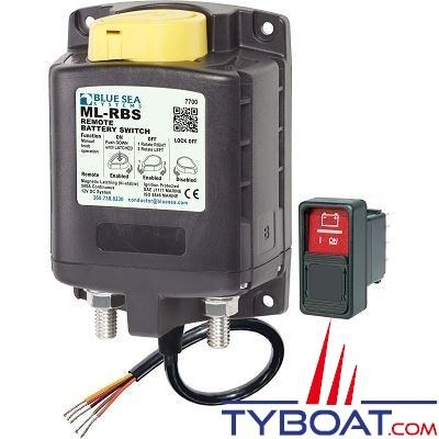Blue Sea Systems - Relais ml 500a 12v rbs - commande manuelle - BS7700