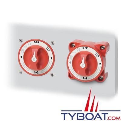 Blue Sea Systems - Switch de batterie série E à 3 positions - Double circuit - 350A