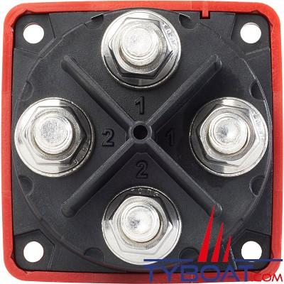Blue Sea Systems - Switch de batterie série M à 3 positions - Double circuit - 300A