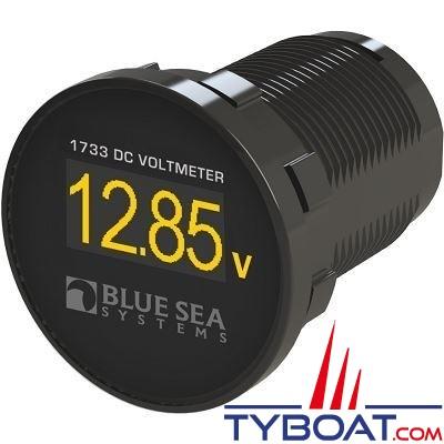 Blue Sea Systems - Voltmètre mini oled - Ø29mm - 12/24vdc