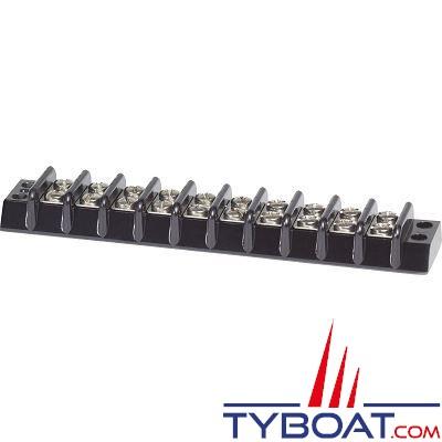 Bloc de jonction Blue Sea 2510 Blocs 10 circuits 30A