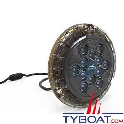 Bluefin Led - Piranha P24 - Lampe LED sous-marine à montage en surface - 10000 lumens - 12/24V - Blanc diamant