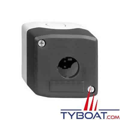SCHNEIDER ELECTRIC - Boîte à boutons vide XALD grise 1 perçage
