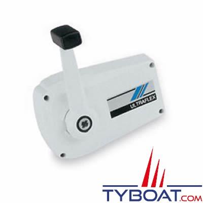 Boîtier de commande moteur ULTRAFLEX B89 blanc mono-levier gaz-inverseur montage sur cloison