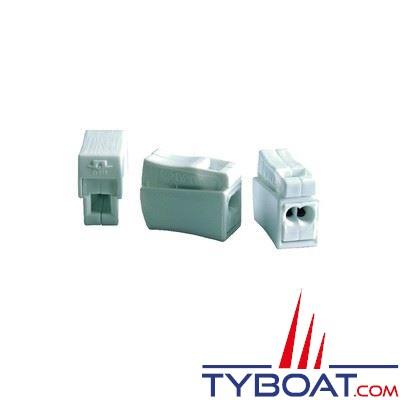 Borne de connection BizLine pour fils souples 0,5 à 1,5 mm2 et rigides 0,75 à 2,5 mm2 (x10 pièces)