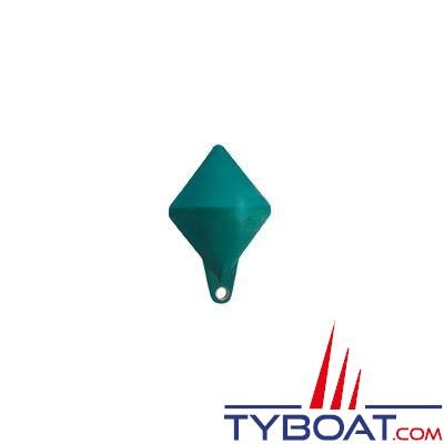 Bouée de balisage Plastimo bi-conique Ø 40cm hauteur 64 cm - vert - moussée