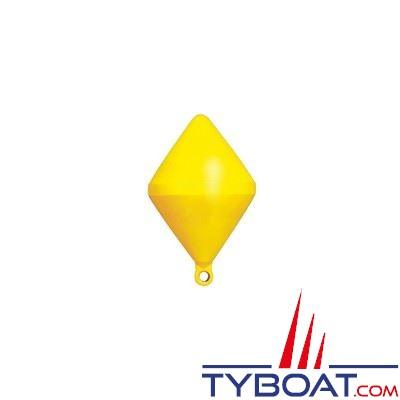 Bouée de balisage Plastimo bi-conique Ø 40cm hauteur 64cm - jaune - moussée