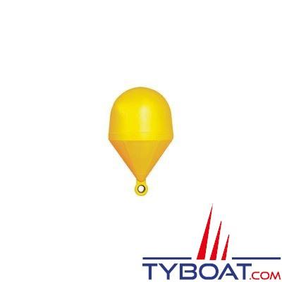Bouée de balisage Plastimo sphérique Ø 60cm hauteur 110cm - jaune - moussée