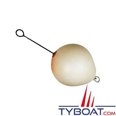 Bouée de mouillage Dan Fender blanche Ø 810 mm à tige longue Ø 19 mm acier galvanisé