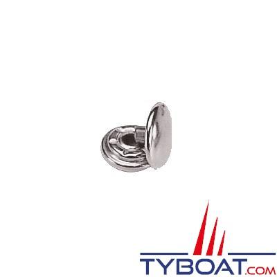 Bouton pression Prym laiton nickelé inoxydable Ø 15mm à visser (x10 pièces + outils)
