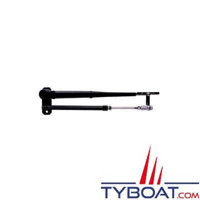 Bras pantographe KENT MARINE inox epoxy noir ajustable de 381 à 432mm
