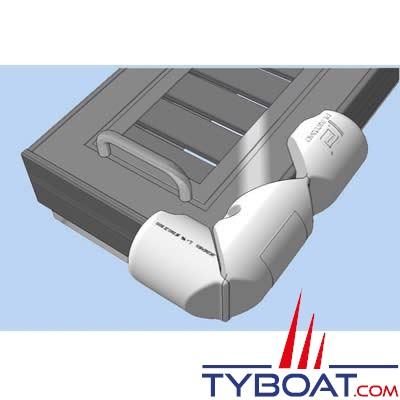 PLASTIMO - Bumper articulé - Défense de ponton 3/4 - Blanc - Ø 18 cm x longueur 80 cm