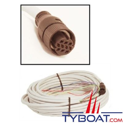 Câble NMEA2000 Furuno pour relier le SC30 à l'interface NMEA0183/2000 - 30 mètres