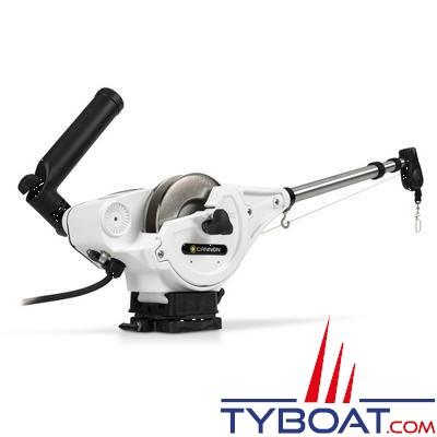CANNON - DIGI-TROLL 5 TS - Treuil de pêche électrique - SPECIAL MER : Bras et bobine INOX