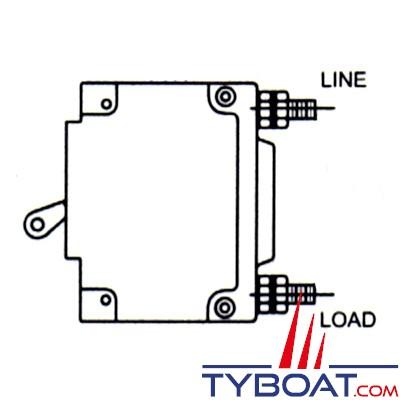 Disjoncteur hydromagnétique unipolaire à levier  100A