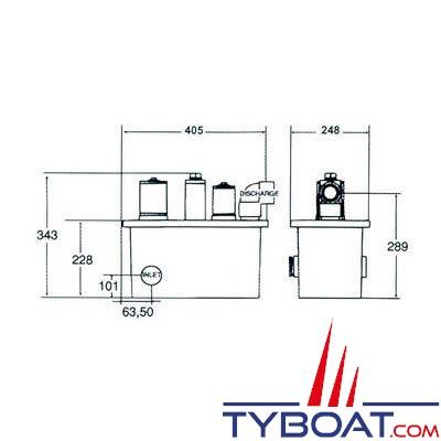 Centrale d'épuration Raritan Electro Scan 24 volts