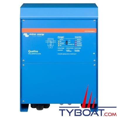 VICTRON ENERGY - Chargeur - Convertisseur Quattro 12 Volts 5kVA (4500 Watts) 200 Ampères 230 Volts commutateur de transfert 100/100A