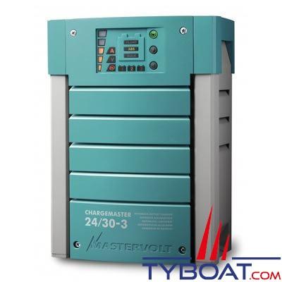 Mastervolt - Chargeur électronique de batterie - CHARGEMASTER 24/30-3 - 24 Volts - 30 Ampères - 3 sorties