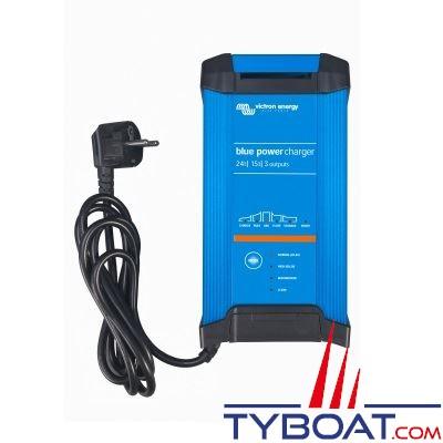 Chargeur de batterie Victron Energy Blue Power 24 Volts 15 ampères 3 sorties / entrée 180-265VAC/45-65Hz IP22