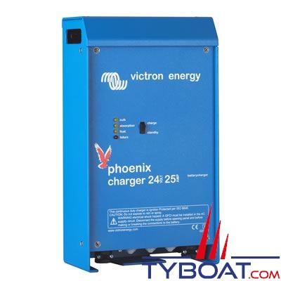 VICTRON ENERGY - Chargeur de batterie Phoenix 24 Volts  25 ampères 2+1 sortie / entrée 90-265Vac/45-65Hz.